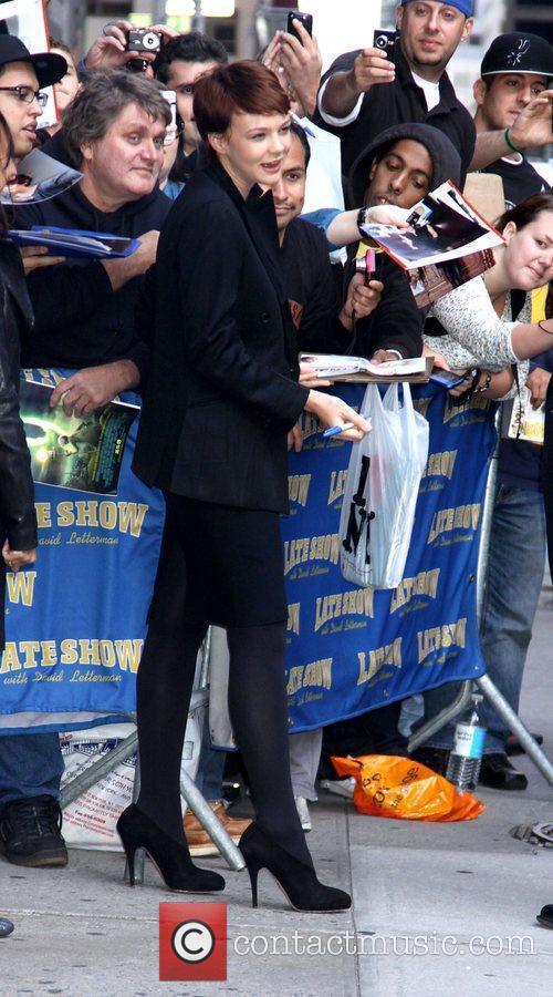 Carey Mulligan and David Letterman 13