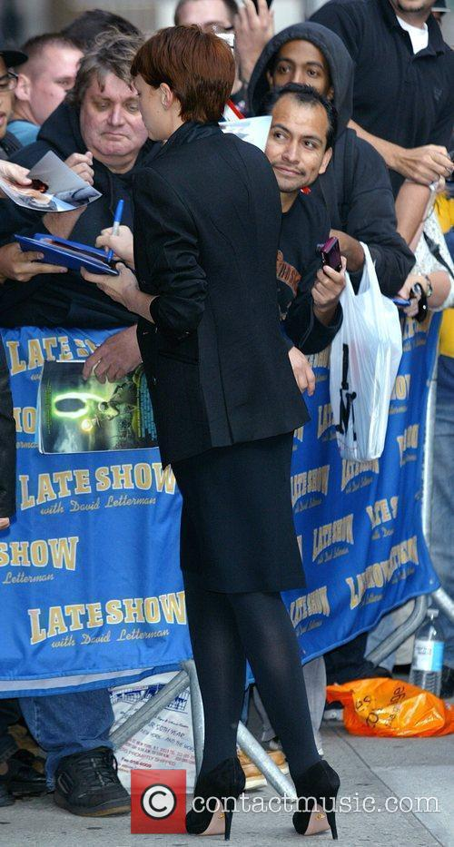 Carey Mulligan and David Letterman 4