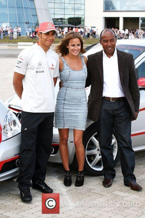 Lewis Hamilton, Caroline Flack and Anthony Hamilton 7