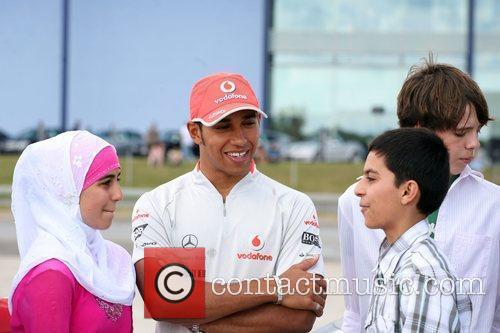 Meets fans at Mercedes World in Brooklands as...