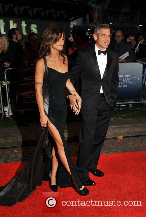 George Clooney and Elisabetta Canale 5