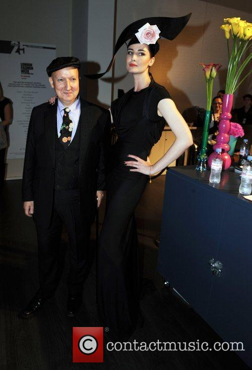 Erin O'Connor 25th anniversary London Fashion Week Spring/Summer...