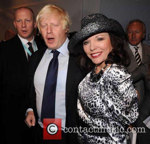 Boris Johnson and Joan Collins 25th anniversary London...