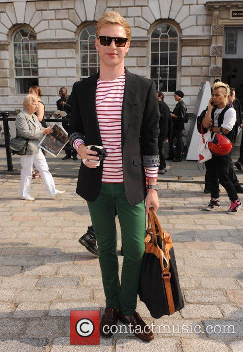 Henry Conway attends London Fashion Week held at...