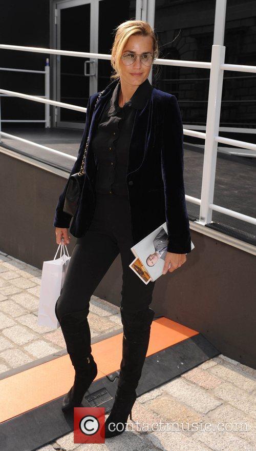 Yasmin LeBon attends London Fashion Week held at...