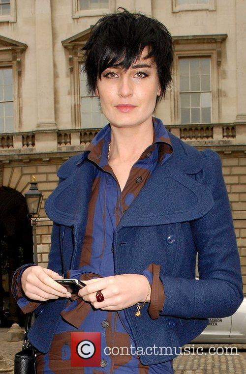 Erin O' Connor attends London Fashion Week held...