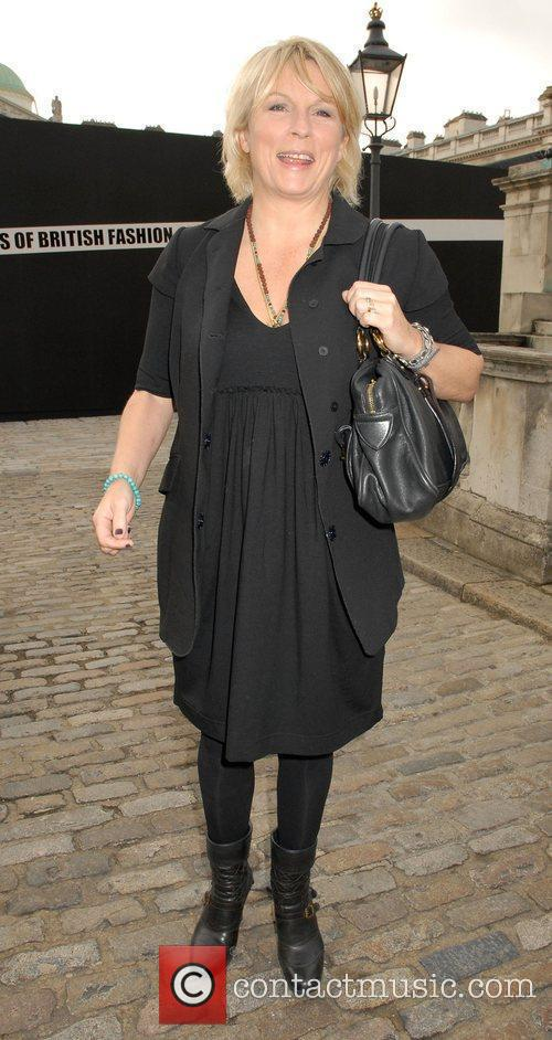 Jennifer Saunders attends London Fashion Week held at...