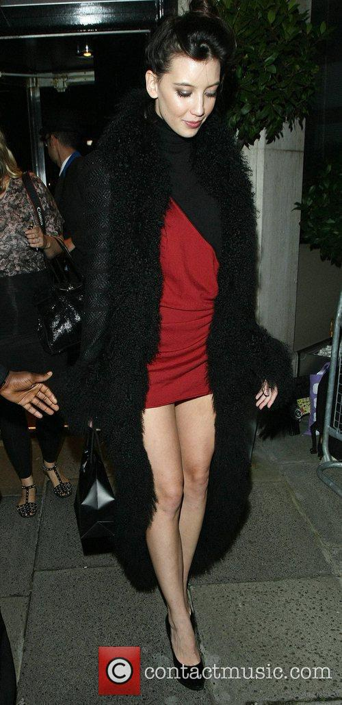 Leaves Le Caprice restaurant after attending a London...