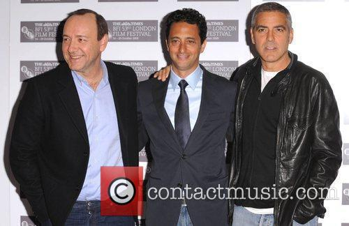 Kevin Spacey, Grant Heslov and George Clooney...