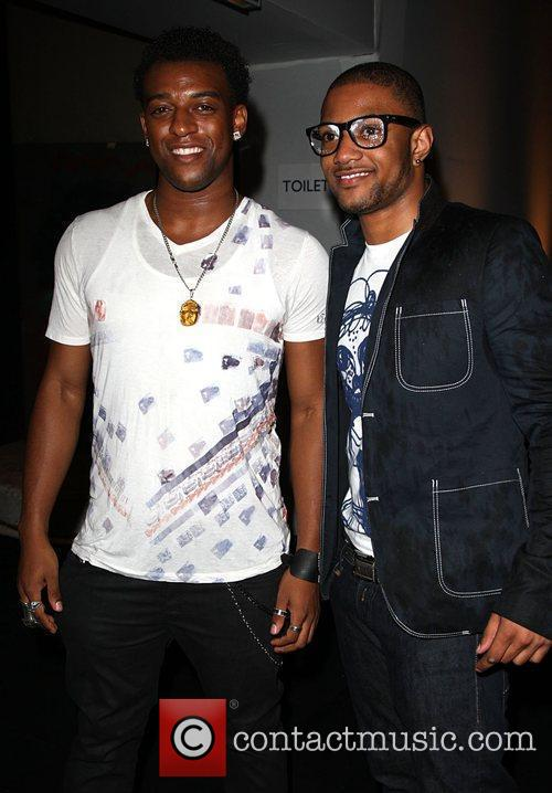 Oritse Wiliams and JB from JLS 25th anniversary...