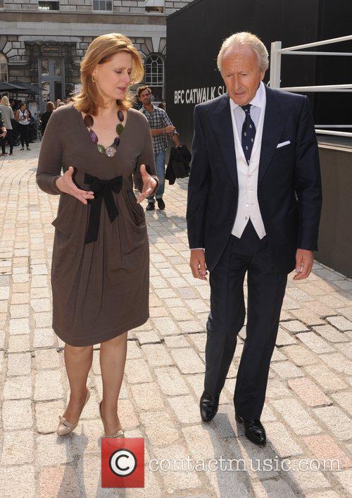 Sarah Brown and Harold Tillman at London Fashion...