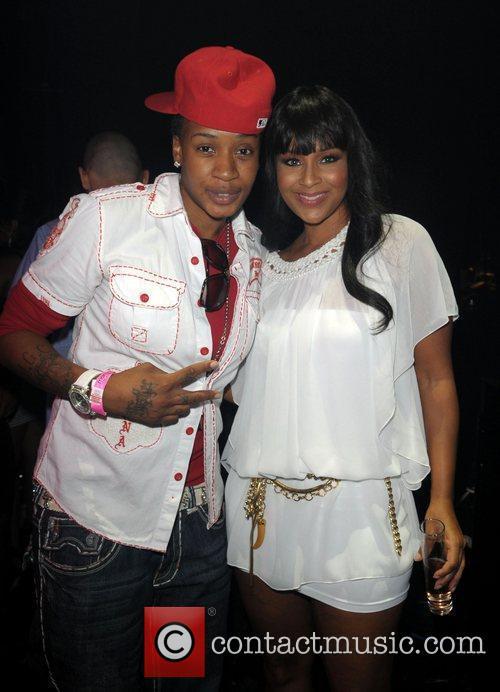 KD and LisaRaye Lil' Kim's birthday celebration at...