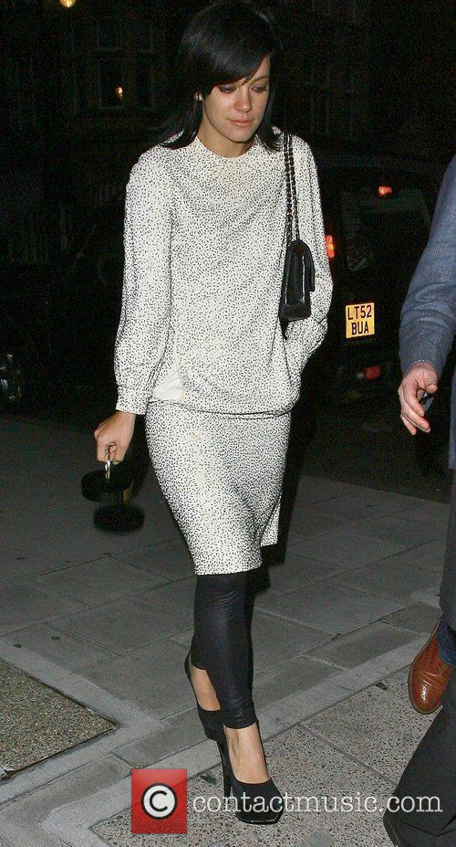 Lily Allen  after leaving the Q Awards...