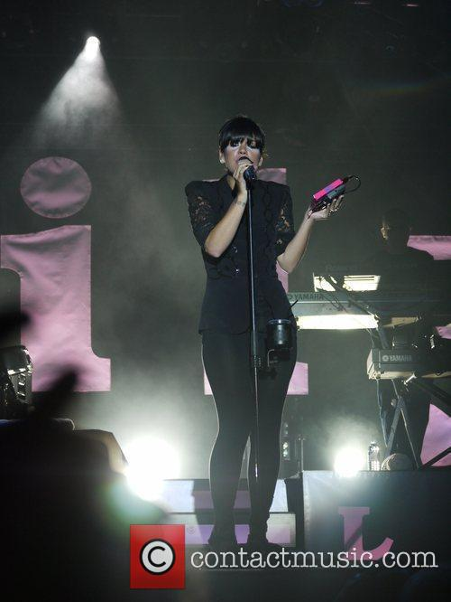 Lily Allen performing at the Somerset House series