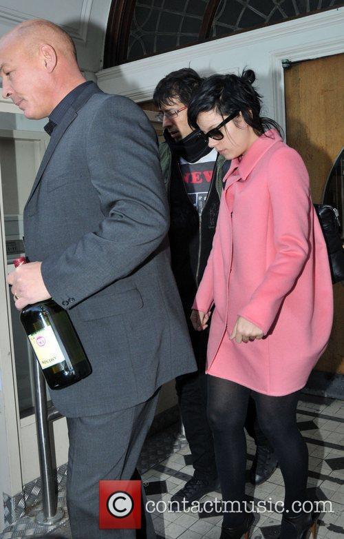 Lily Allen leaving Maida Vale studios London, England