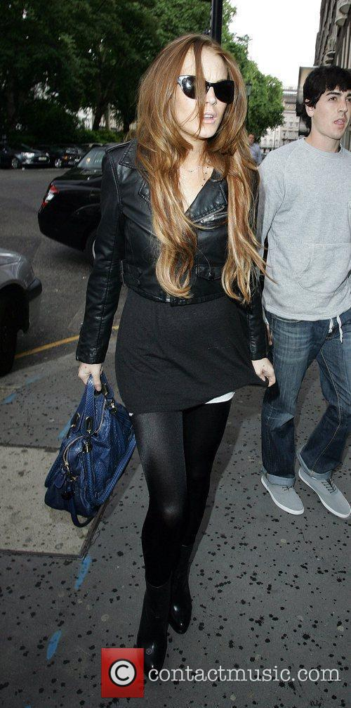 Lindsay Lohan arrives into central London to shop...