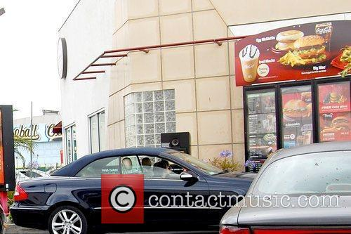 Lindsay Lohan  stops at McDonald's after leaving...