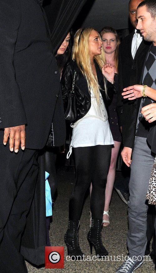 Lindsay Lohan leaving Voyeur nightclub Los Angeles, California