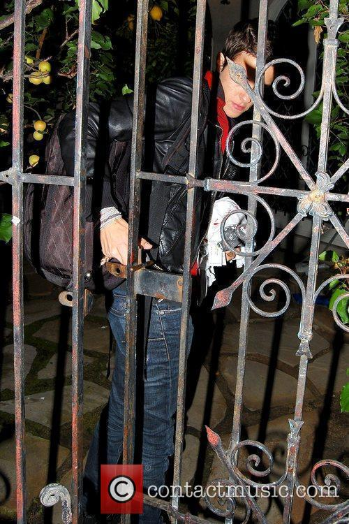 Arriving at her residence after leaving Villa nightclub...