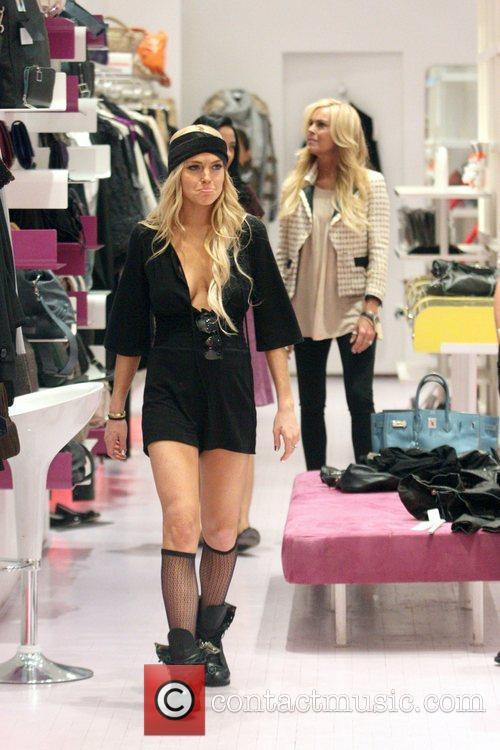 Lindsay Lohan and her mother Dina Lohan shop...