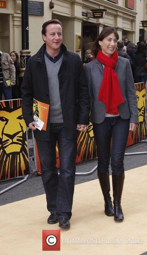 David Cameron and Samantha Cameron Disney's 'Lion King'...
