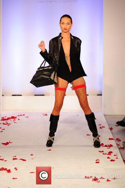 Model ILiquid Metal Fashion Show during Funkshion Fashion...