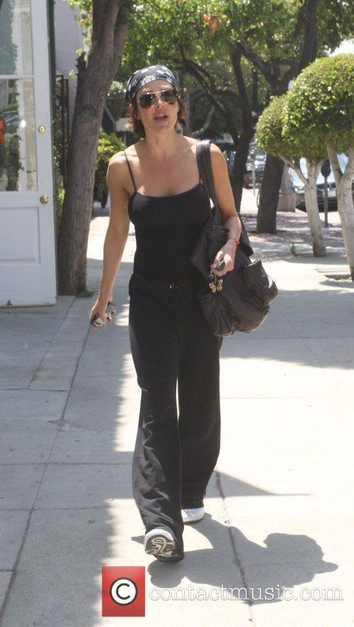 Leaving a tanning salon in West Hollywood