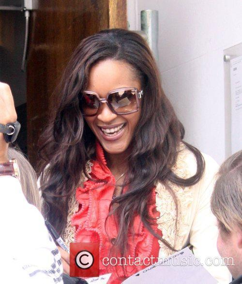 Shontelle leaving the BBC studios in Maida Vale...