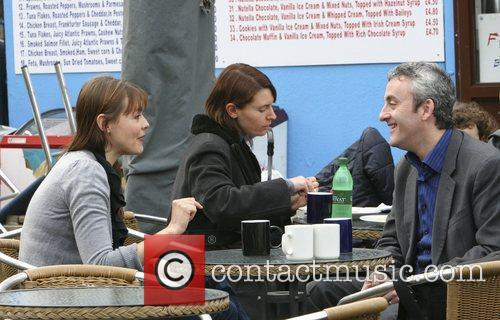 Kate Ford has coffee outside after leaving the...