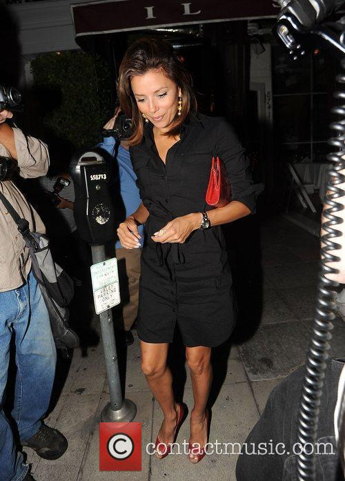 Eva Longoria  leaving Il Sole restaurant Los...
