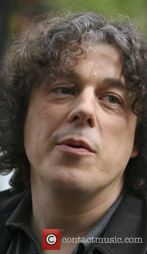 Alan Davies leaving the London studios after appearing...