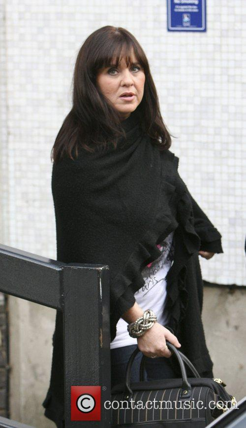 Coleen Nolan leaving the London studios after appearing...