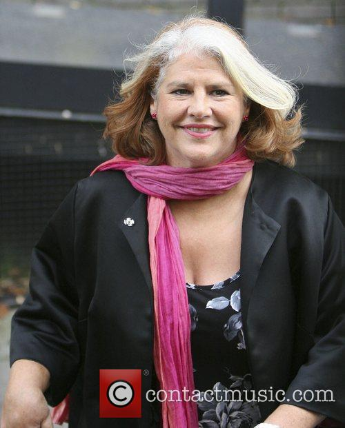 Denise Black leaving the London studios after appearing...