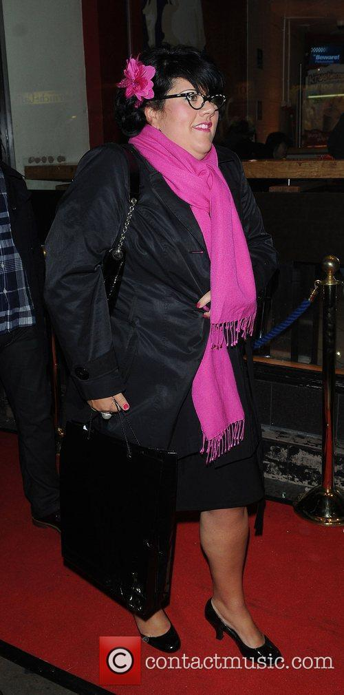 Amy Lame attends a party to celebrate ten...