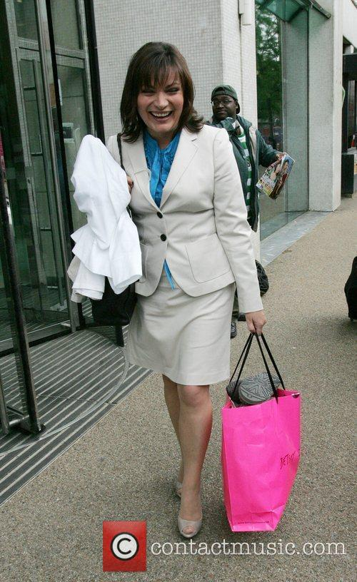 Lorraine Kelly leaves the GMTV studios London, England
