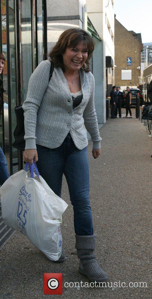 Lorraine Kelly outside the GMTV studios. London, England