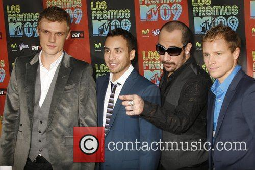 (l-r) Nick Carter, Howie Dorough, A.J. McLean and...