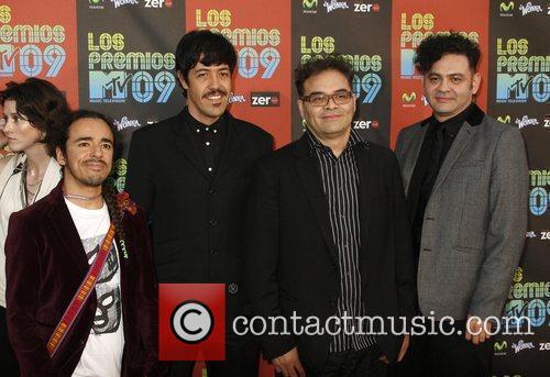 (l-r) Ruben Albarran, Emmanuel del Real, Joselo Rangel...
