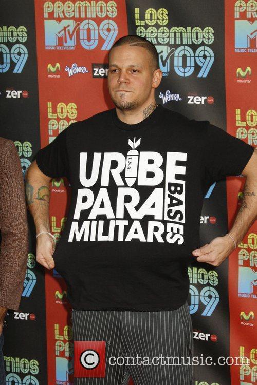 Residente of 'Calle 13' Los Premios MTV 2009...