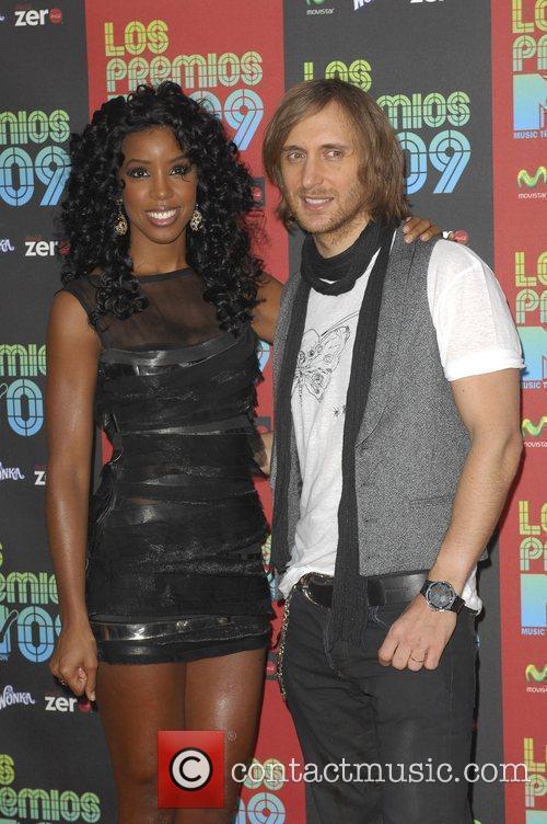 Kelly Roland and David Guetta Los Premios MTV...