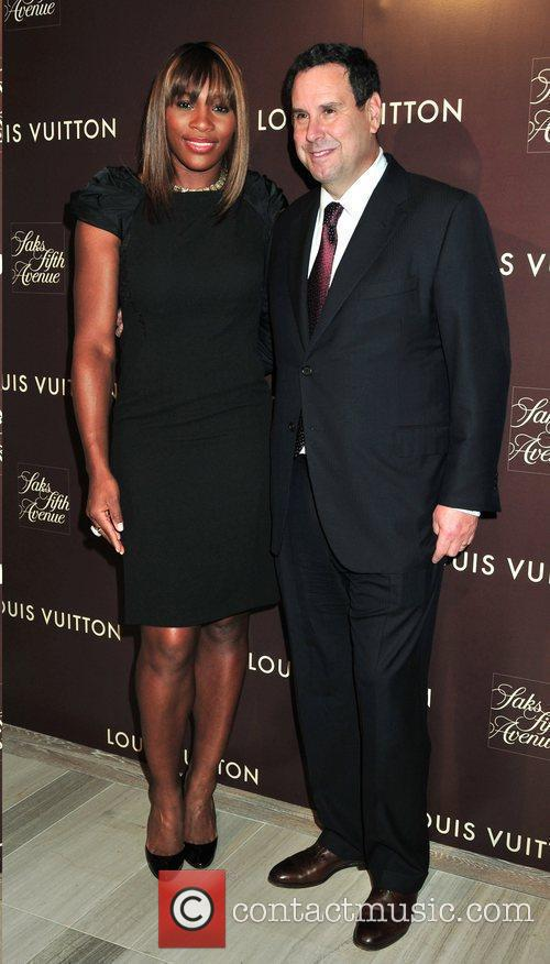 Serena Williams and Steve Sadove Louis Vuitton 2010...