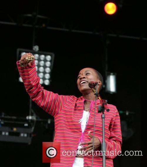 Performing at The Lovebox Weekender 2009 - Day...