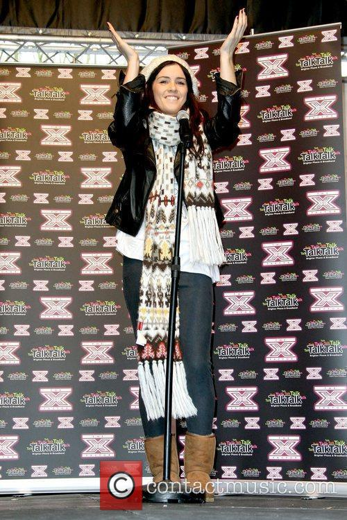 Lucie Jones former contestant on 'The X Factor'...