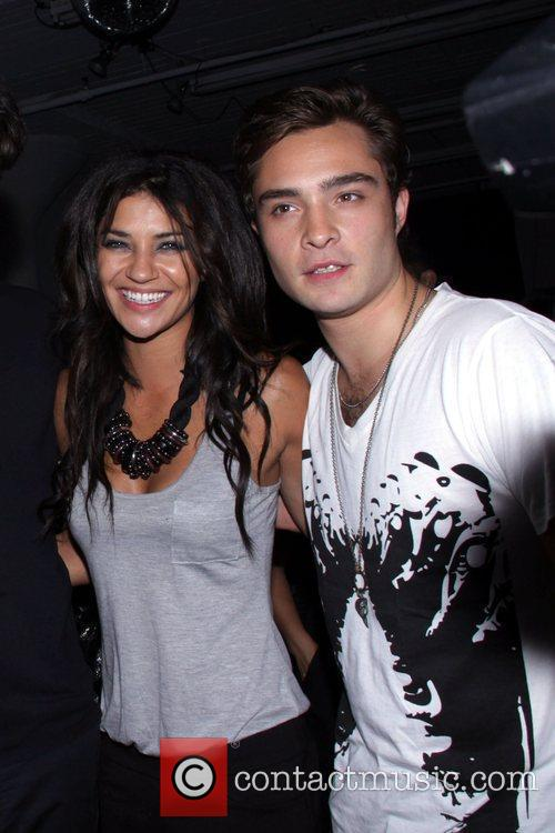 Jessica Szhor and Ed Westwick attend the M.A.C....