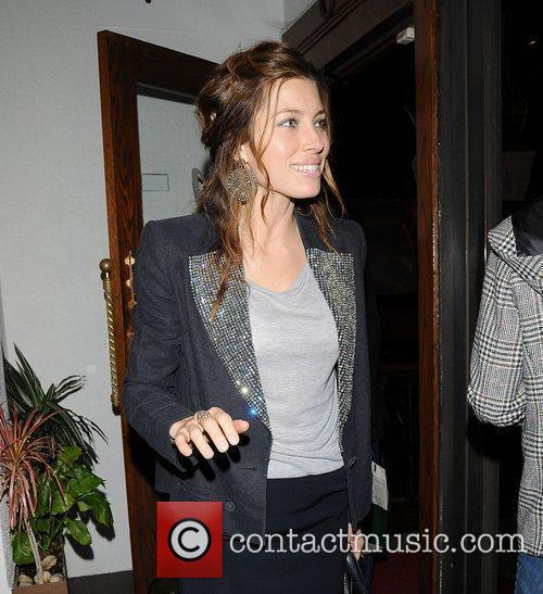 Jessica Biel outside Madeo restaurant Los Angeles, California