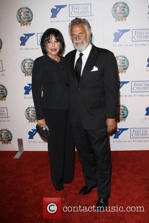 Jonathan Goldsmith with wife Barbara Goldsmith 2009 World...