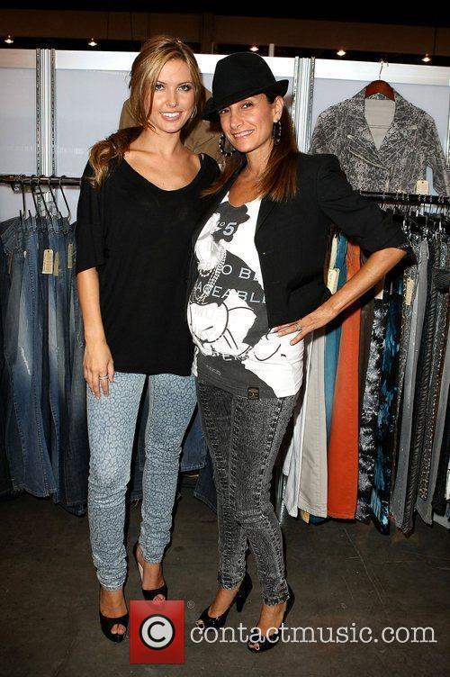 Audrina Patridge and Rokhsan Enanoria 2009 MAGIC Marketplace...