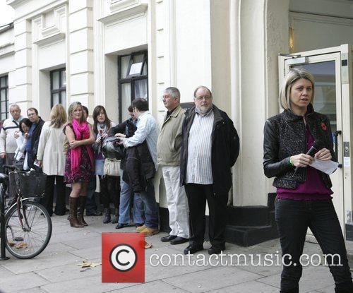 Crowds outside the BBC Maida Vale studios on...