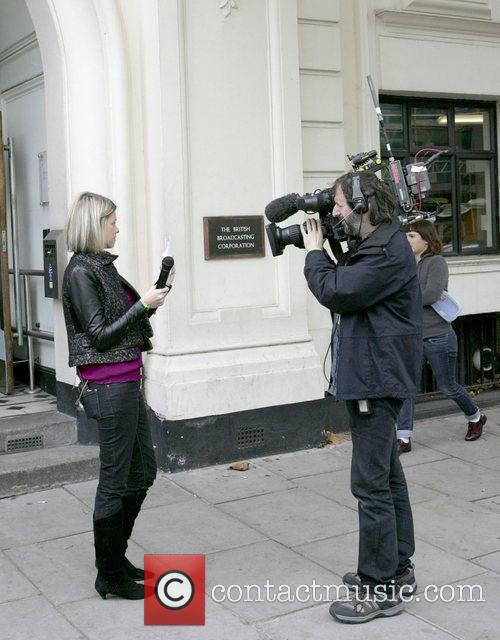 Filming outside the BBC Maida Vale studios on...
