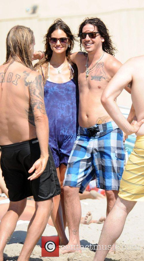 Cisco Adler On Malibu Beach With Friends 2